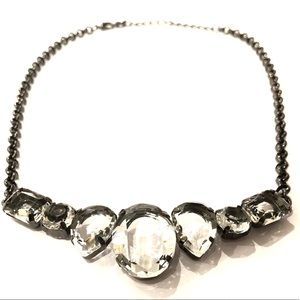 WHITE HOUSE BLACK MARKET gunmetal crystal choker